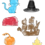 Thanksgiving Cat Printable Worksheets - Great to go along with Petet the Cat