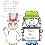 Duck for President Worksheets