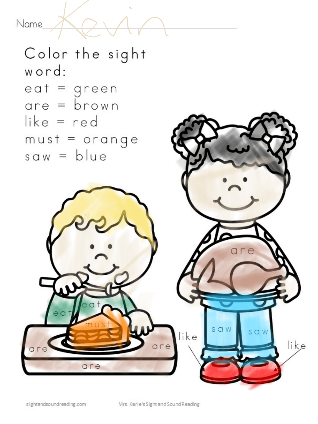 Thanksgiving Activity Pack for Kindergarten