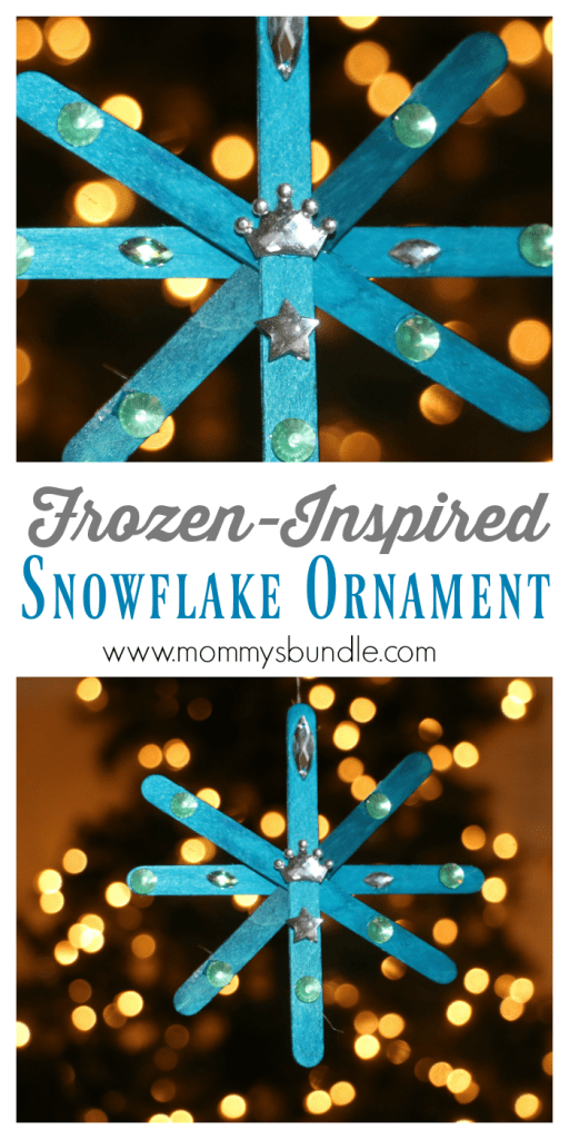 Snoflake Ornament Kid Craft Frozen