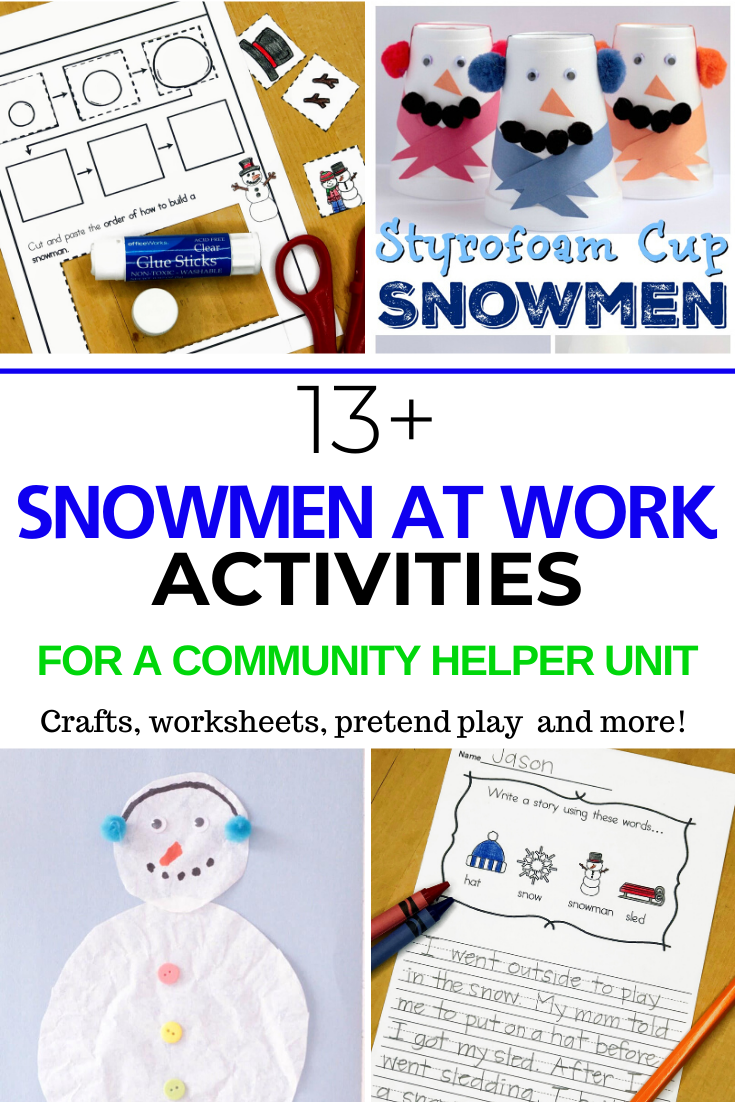 Snowmen at work activities to go along with the book!