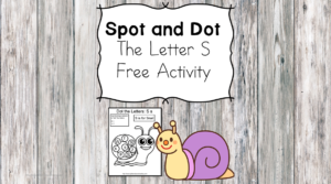 Spot and Dot Letter S - Can you find the upper and lower case letters in the picture?