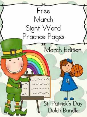 Get a free sample of our March Sight Word Worksheets. These worksheets contain leprechauns and basketball players on the. Ten free pages included