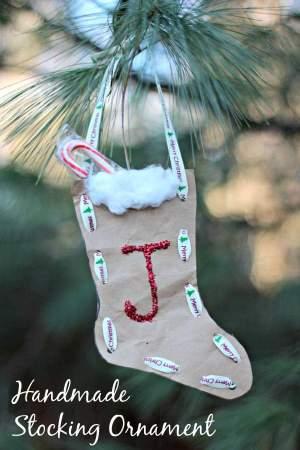 Handmade Stocking Christmas Ornament