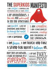 Superkids Manifesto - empower your superheroes!