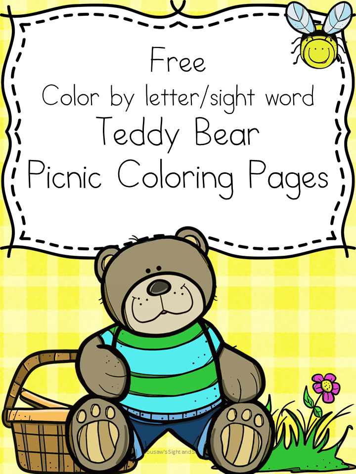 Teddy Bear Picnic Coloring Pages -Free and fun!