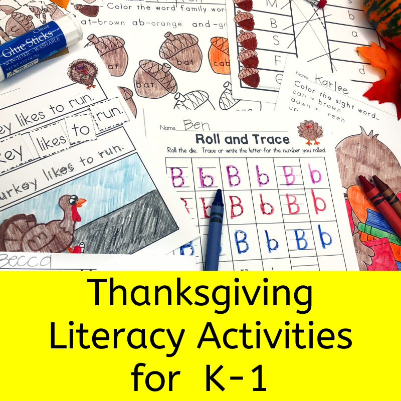 Thanksgiving Literacy Activities for K/1