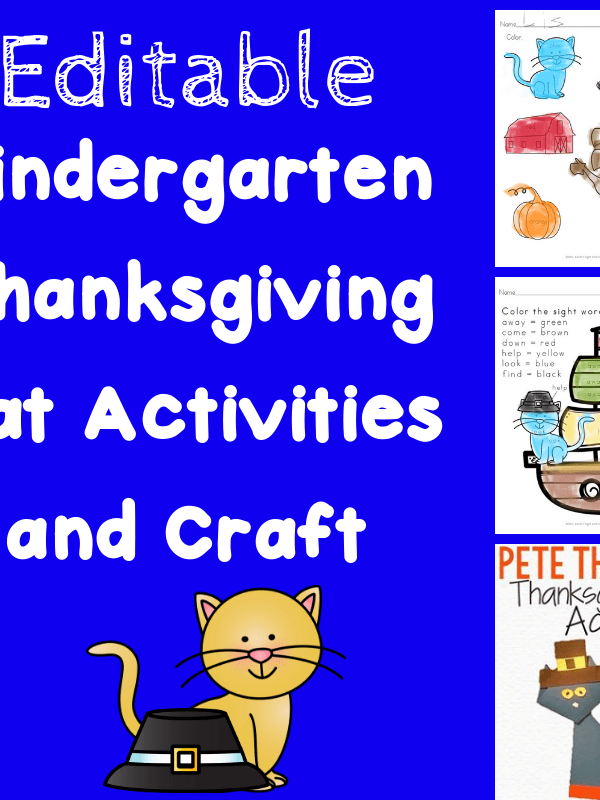 Thanksgiving Cat Literacy Activities