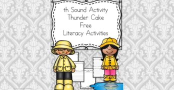 Thunder Cake Activities and Worksheets