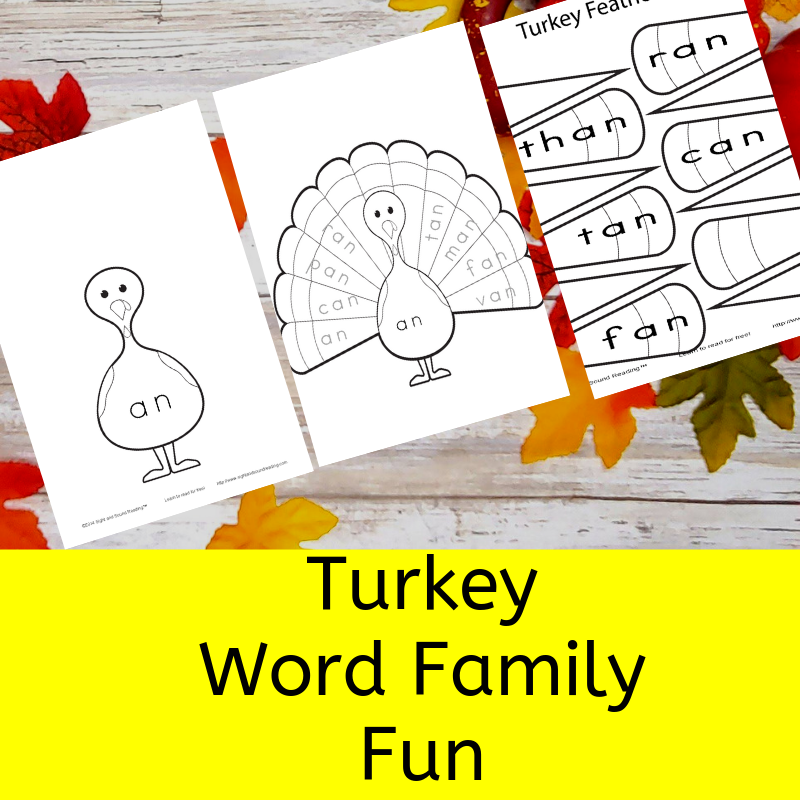 Turkey Word Family Fun