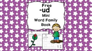 Teach the ud word family using these ud cvc word family worksheets. Students make a mini-book with different words that end in 'ud'. Cut/Paste/Tracing Fun