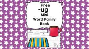 Teach the ug word family using these ug cvc word family worksheets. Students make a mini-book with different words that end in 'ug'. Cut/Paste/Tracing Fun