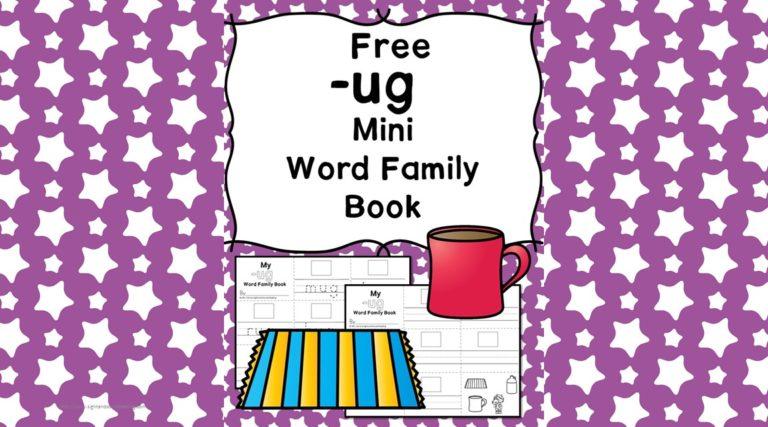 UG CVC Word Family Worksheets