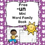 Teach the un word family using these un cvc word family worksheets. Students make a mini-book with different words that end in 'un'. Cut/Paste/Tracing Fun