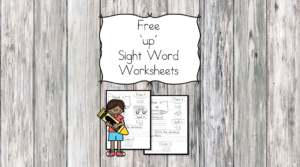 up Sight Word Worksheet -for preschool, kindergarten, or first grade - Build sight word fluency with these interactive sight word worksheets