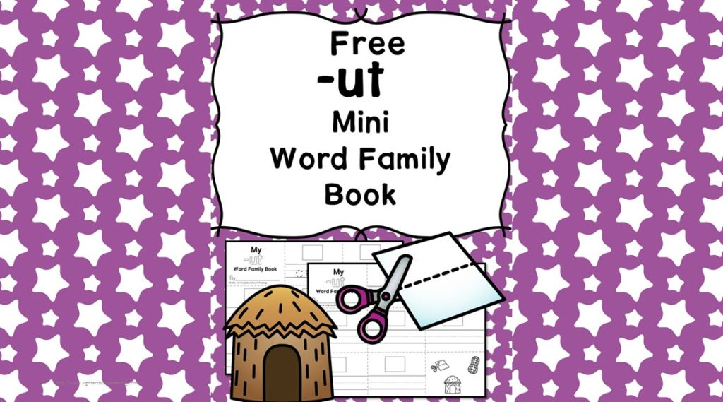 Teach the ut word family using these ut cvc word family worksheets. Students make a mini-book with different words that end in 'ut'. Cut/Paste/Tracing Fun