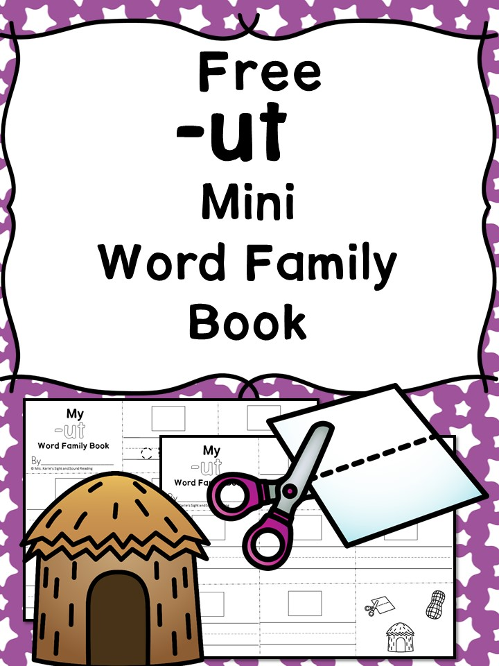 UT CVC Word Family Worksheets -Make a word family book!