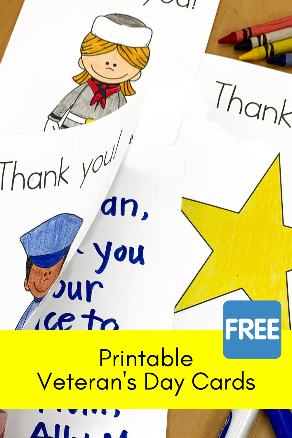 Printable Veterans Day Cards for Kids