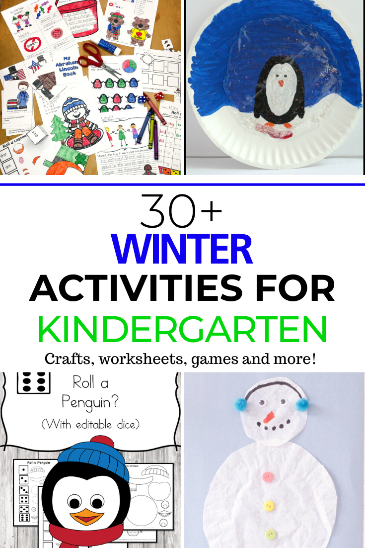 Winter Activities for Kindergarten -crafts, games, worksheets and more!