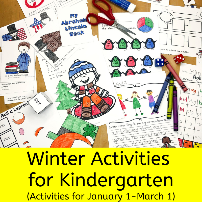 Winter Acivities for Kindergarten - Worksheets to take you from Jan 1 to Mar 1