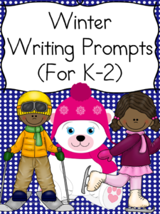 Winter is here!!  Come get a list of winter writing prompts and a free winter writing prompt for students in kindgarten through 2nd grade.
