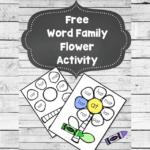 Word Family Flower Worksheet Craft