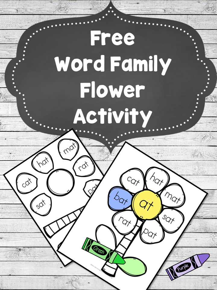 Looking for a fun activity to help learn phonics? This Word Family Flower Worksheet Craft is a fun cut and paste phonics activity. Make learning fun!