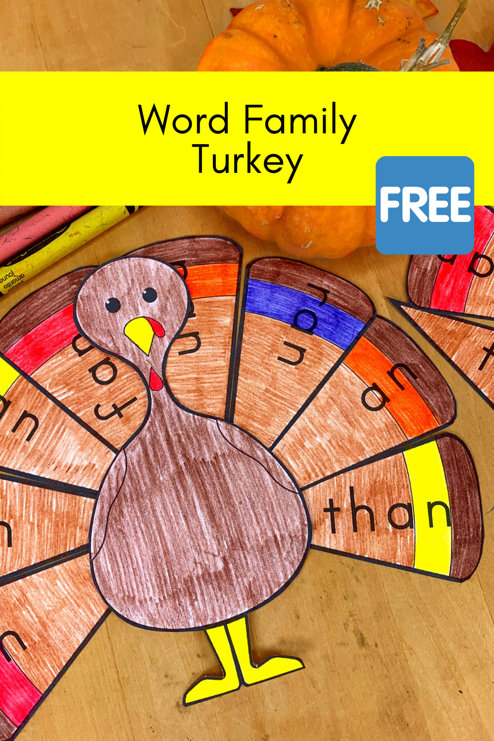 Word Family Turkey