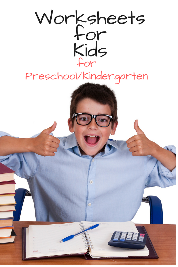 Worksheets for Kids -For Preschool/Kindergarten age -Help your child learn to read and see that learning is fun with these fun worksheets!