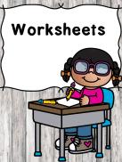 Worksheets for Kids -for preschool or kindergarten