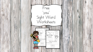 you Sight Word Worksheet -for preschool, kindergarten, or first grade - Build sight word fluency with these interactive sight word worksheets